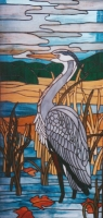 heron on the edge of the marsh