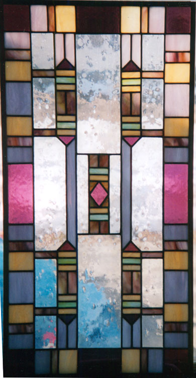 Abstract panel for door or window