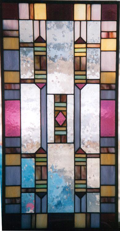 Abstract panel for door or window